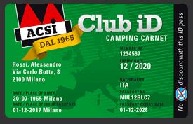 Tessera Acsi Club ID